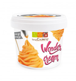 Pot of orange Wonder Cream...