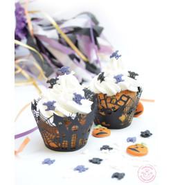 Ambiance Halloween avec contours dentelle pour cupcakes réf.5076
