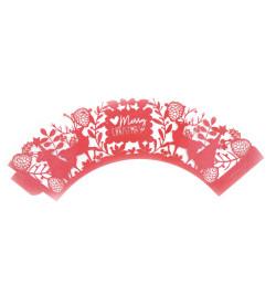 Détail contours dentelle pour cupcakes Noël réf.5078