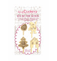 4 Christmas deco wood accessories