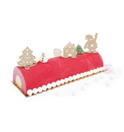 idée réalisation avec 4 accessoires déco Noël bois éf.4991