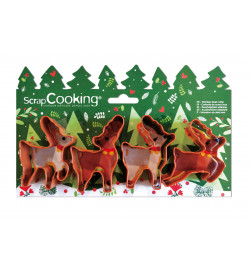 4 Moose cookie cutters