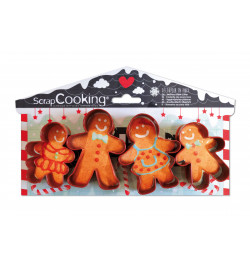 4 Gingerbread Man cookie...