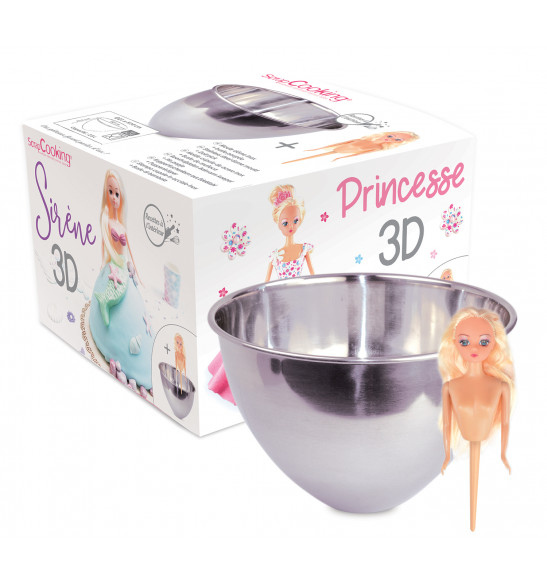 Moule dôme gâteau princesse/sirène 3D