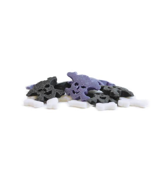 Pot de décors sucrés os et tête de mort
