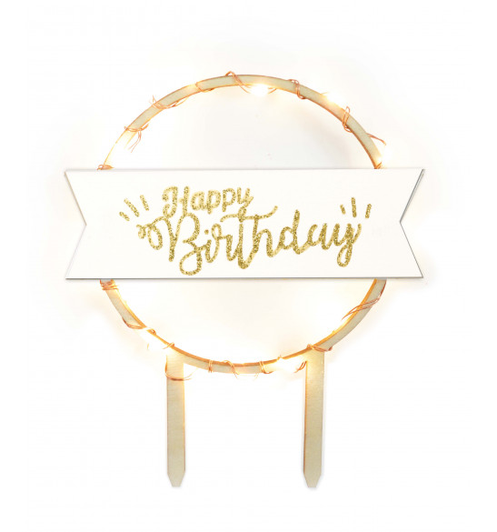 Cake topper led Happy Birthday