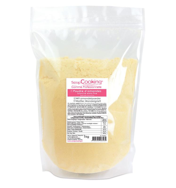 Poudre d'amandes blanche extra fine 1Kg