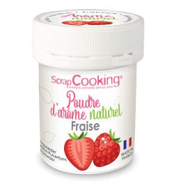 Pot de poudre d'arôme naturel fraise réf.4438