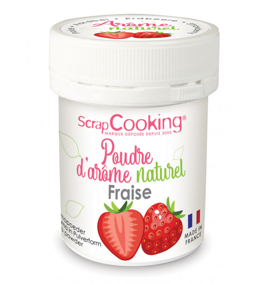 Pot of Strawberry natural powdered flavouring 15g