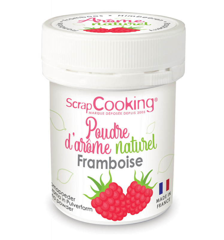 Pot of Raspberry natural powdered flavouring 15g