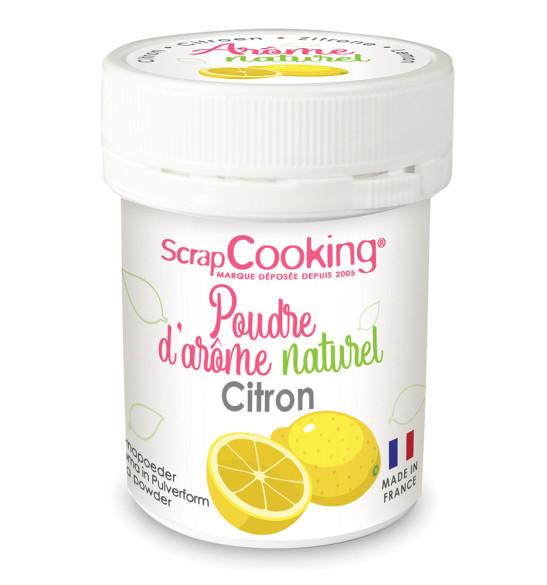 Pot of Lemon natural powdered flavouring 15g