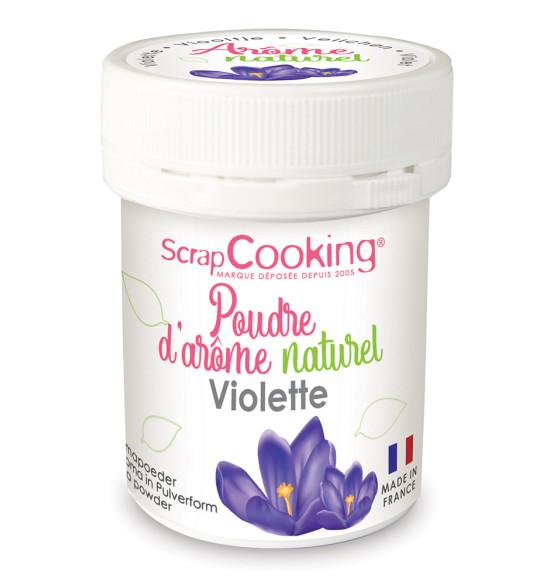 Poudre d'arôme naturel violette