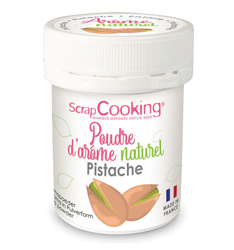 Pot of Pistachio natural powdered flavouring 15g