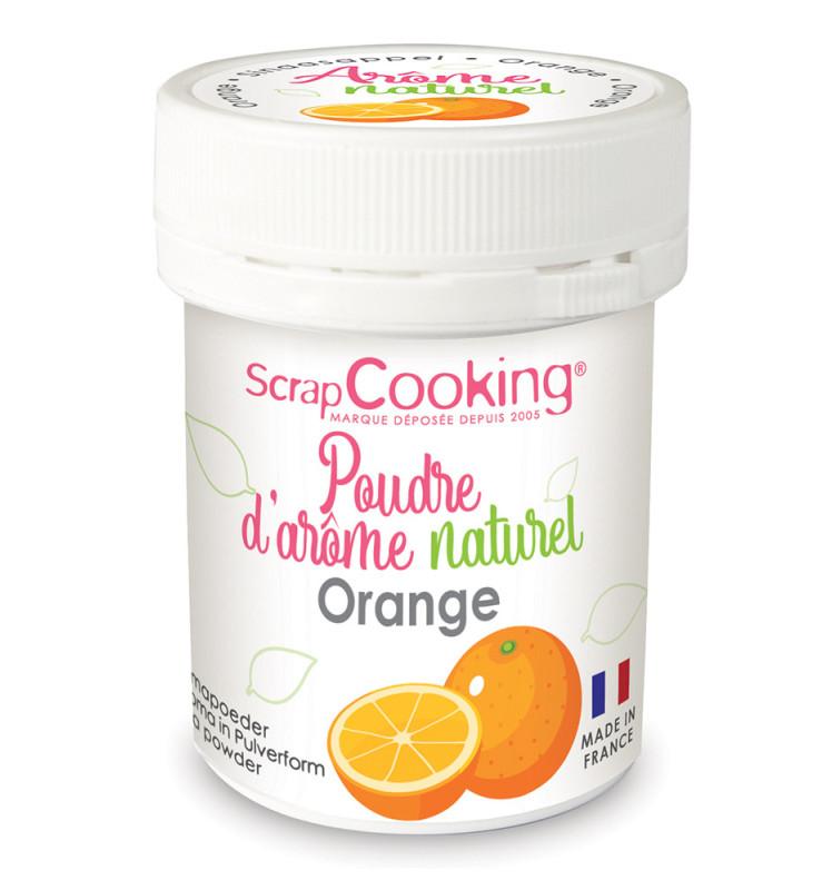 Pot of Orange natural powdered flavouring 15g