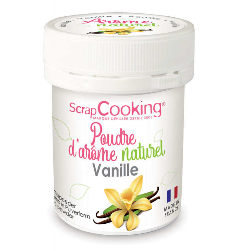 Poudre d'arôme naturel vanille bio