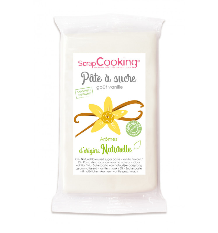 Pâte à sucre blanche goût vanille 250gr