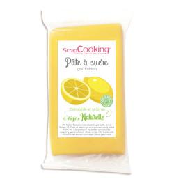 Pâte à sucre jaune goût citron d'origine naturelle 250 g réf.7283