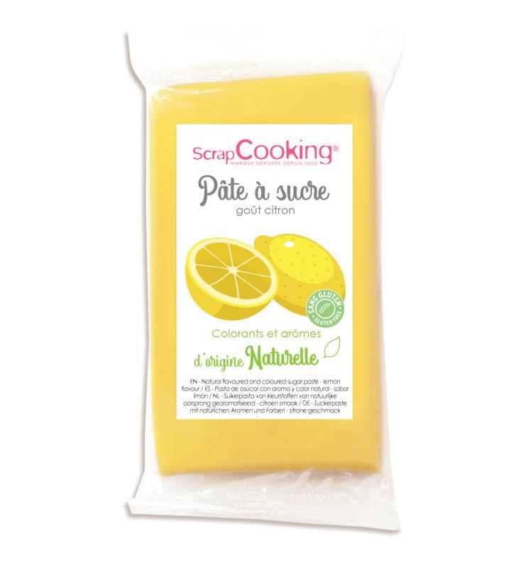 Pâte à sucre jaune goût citron 250gr