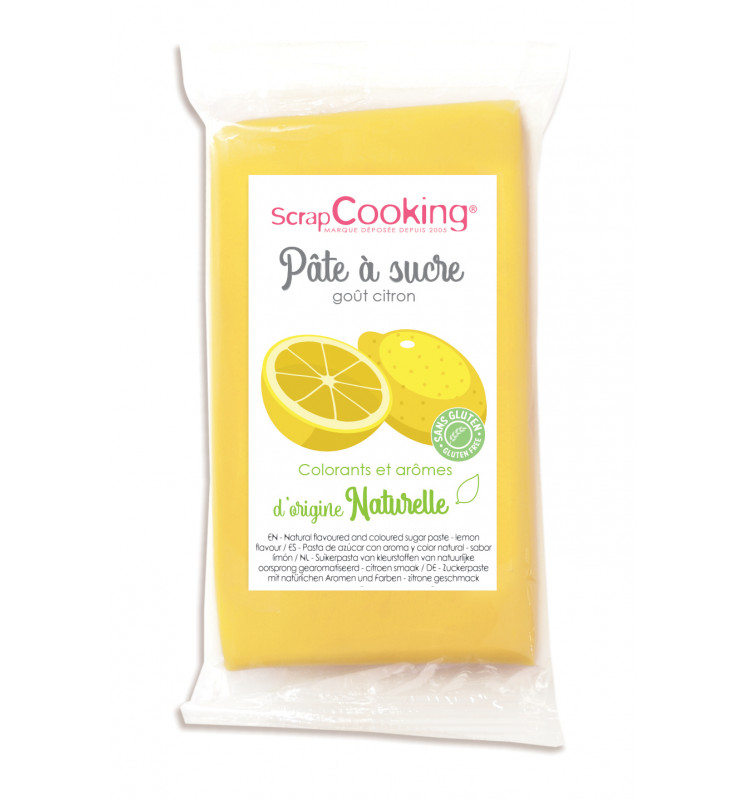 Yellow sugarpaste with natural lemon flavour 250g