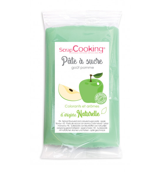 Green sugarpaste with natural apple flavour 250g