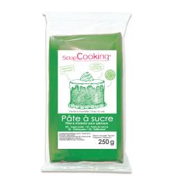 Pâte à sucre vert 250g réf.7222