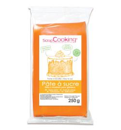 Pâte à sucre orange clair 250g réf.7231