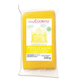 Pâte à sucre jaune 250g réf.7223