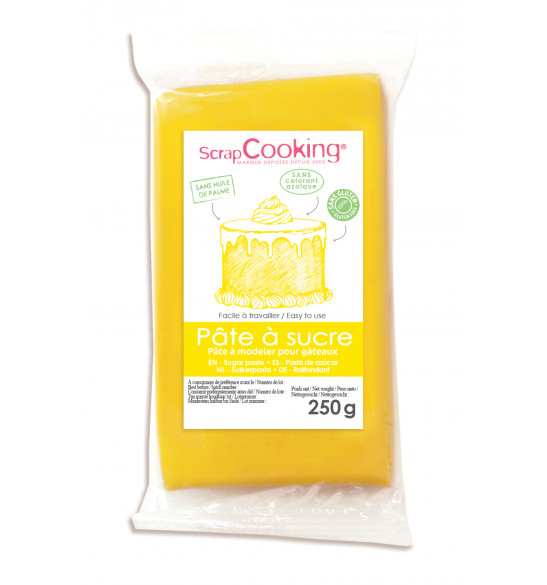 Yellow sugarpaste pack 250 g