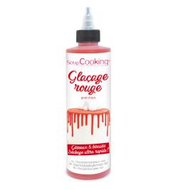 Chocolate flavor glaze red...