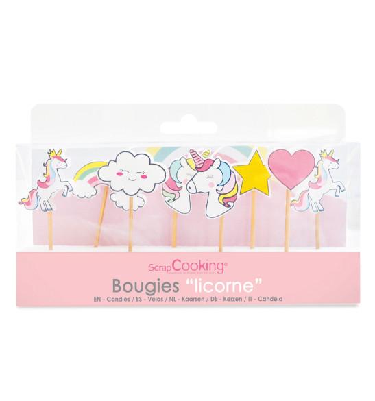 8 bougies licorne