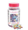 Pot of multicolour stars sugar sprinkles