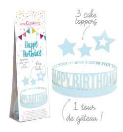 Déco gâteau happy birthday réf.4913