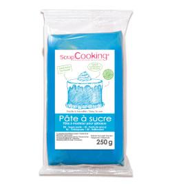 Pâte à sucre bleu 250g réf.7224