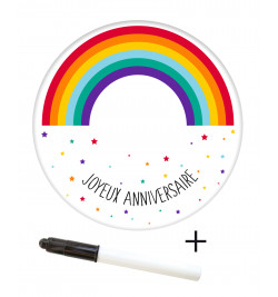 Rainbow sugar paste roll to...