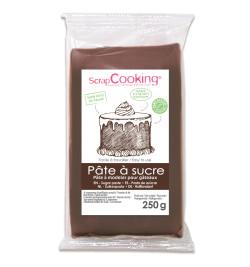 Pâte à sucre marron 250 gr réf.7228