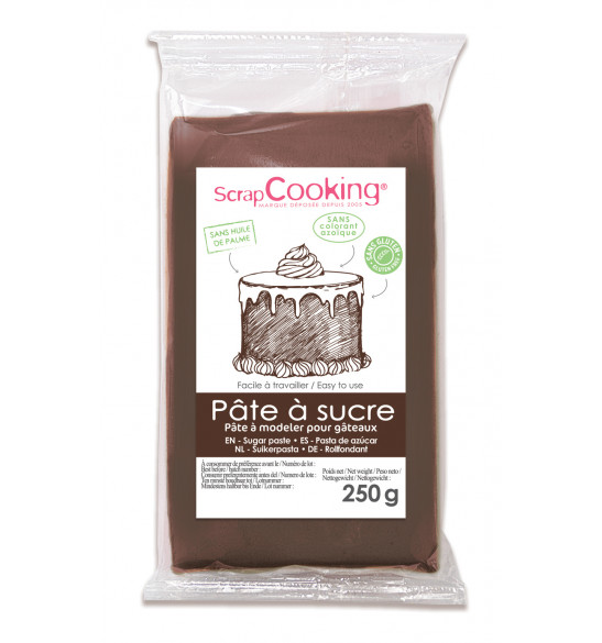 Brown sugarpaste pack 250g