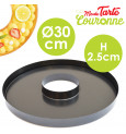 Non-stick round tart pan with removable base
