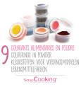 9 mini powdered food colourings