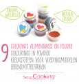 9 mini natural powdered food colourings