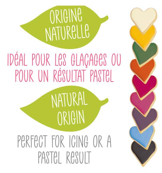 9 colorants d'origine naturelle en poudre