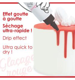 Glaçage rouge prêt à l'emploi goût choco réf.4700