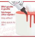 Glaçage rouge goût choco - Drip cake