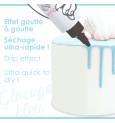 Glaçage bleu goût choco - Drip cake