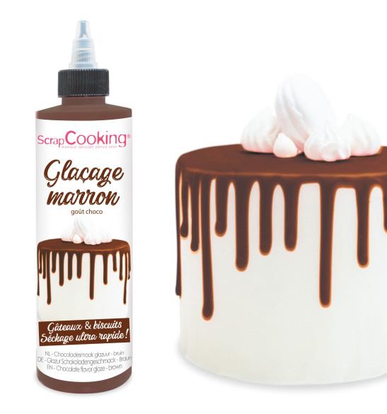 Glaçage marron oût choco - Drip cake