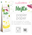 Cake scenery wrapper + cake toppers Mojito