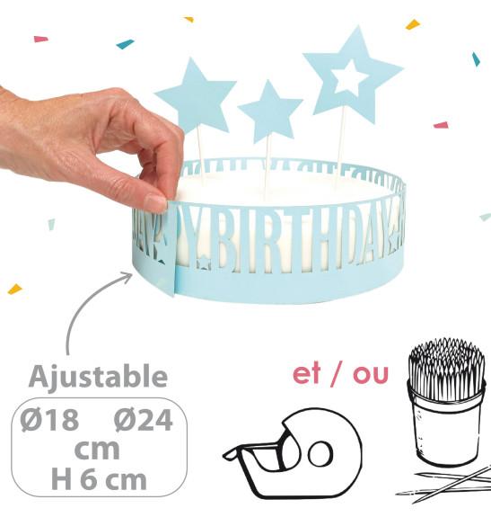 Déco gâteau happy birthday