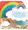 Cake scenery wrapper + cake toppers Happy Birthday