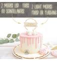 Joyeux Anniversaire LED cake topper