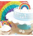 Rainbow LED cake topper