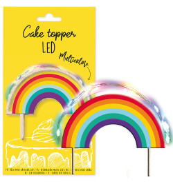 Cake topper led Rainbow réf.4966
